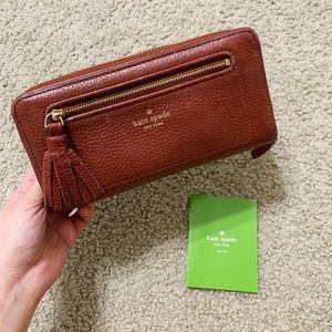 Kate Spade Red Orange Wallet
